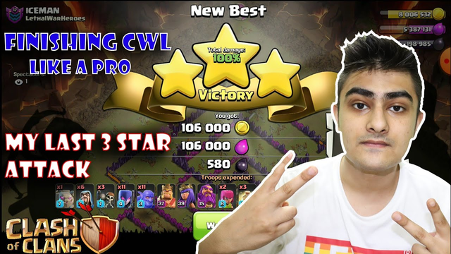 My Last Attack of August CWL    Finishing cwl like a pro Clash of Clans......COC