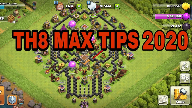 Townhall 8 max in Clash of Clans 2020/Townhall 8 max tips and tricks/best tips and trick for max th8