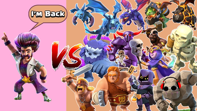PARTY WIZARD VS ALL TROOPS - CLASH OF CLANS