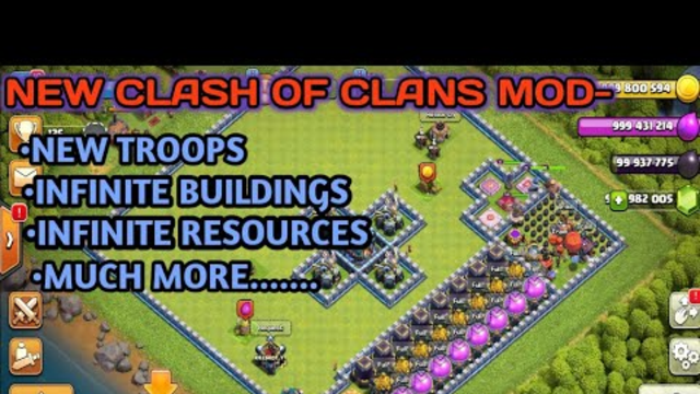 Clash Of Clans latest Modded apk. If want link comment. Download link on 100 subscribers.