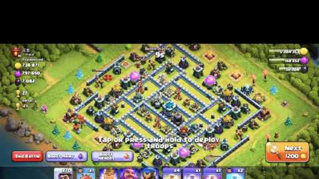 PARTY WIZARD   NEW TEMPORARY TROOP   70 PARTY WIZARD VS  TOWNHALL 13   CLASH OF CLANS