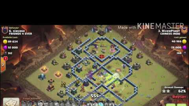 ATTACKING AT CLAN WAR LEAGUE CHAMPIONS LEAGUE 1 CLASH OF CLANS TOWN HALL 13 WITH YETI BATS SPELL