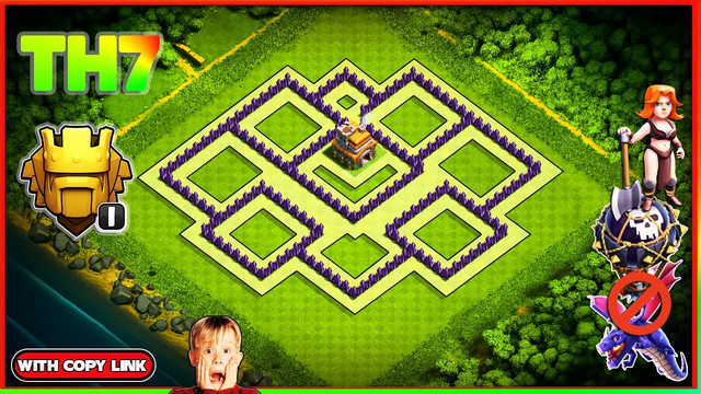 New BEST Town Hall 7 (TH7) TROPHY Base Design!! Clash of Clans TH7 Trophy Layout [Defense] CoC 2020