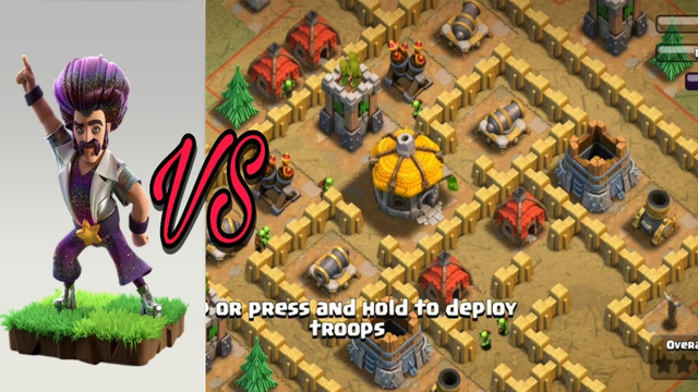 PARTY WIZARD VS ALL TROOPS DEFENCE  - CLASH OF CLANS