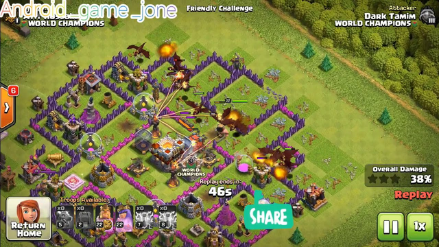 Clash of clans two friendly challenge at a time secrets and get 3star.
