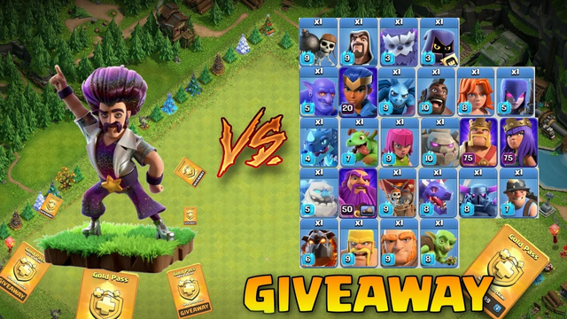 PARTY WIZARD VS ALL MAX LEVEL TROOPS / HEROES IN CLASH OF CLANS - COC