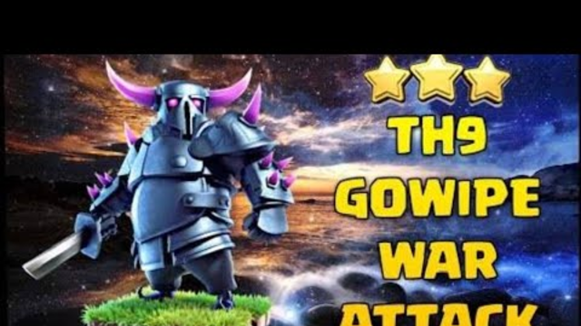 BEST GOWIPE STRATEGY FOR TOWN HALL 9| A BASE THAT IS NOT DEFEATED EVER| CLASH OF CLANS