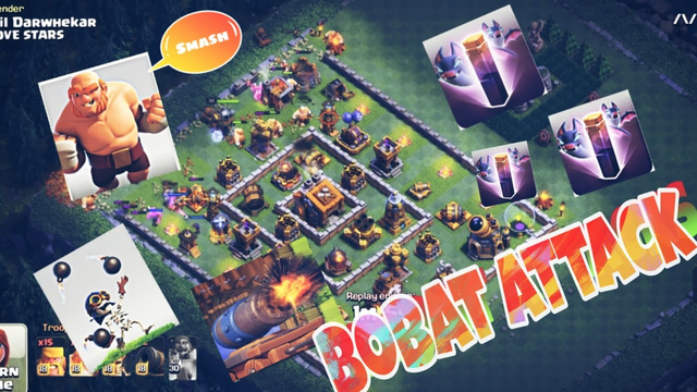 BUILDER BASE ATTACKS WITH GIANT CARTS | CLASH OF CLANS 2020