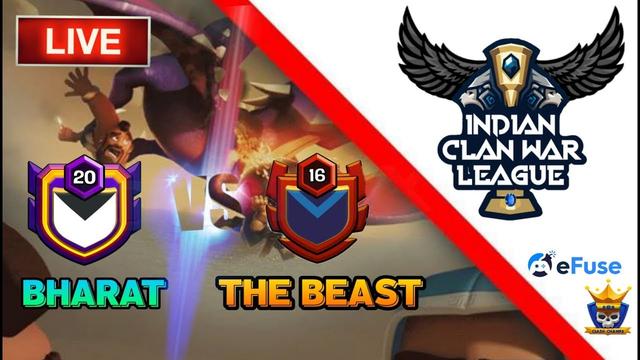 BHARAT vs THE BEAST... ICWL Qualifiers COC LIVE