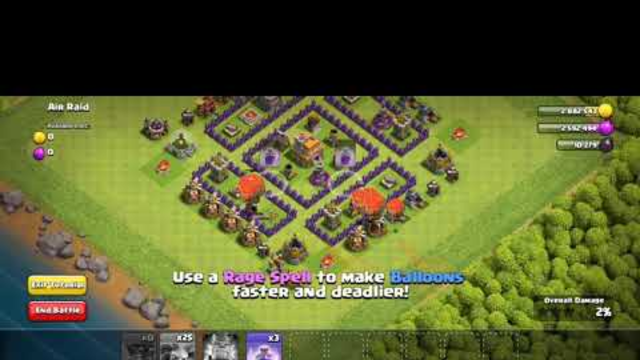 Doing air raid (in practice) |clash of clans|gameplay highlights
