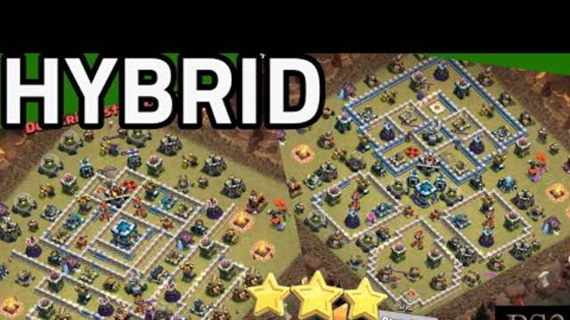 How to 3 star SCWL base - HYBRID strategy attack TH13 / Clash of Clans