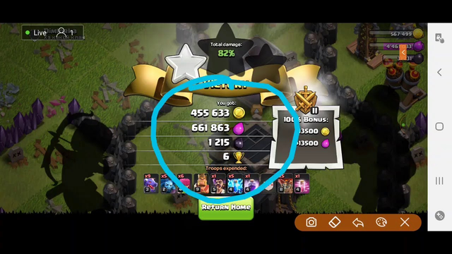 Live Attack TH8|Clash of Clans