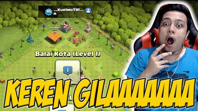 Akun Aneh TH 1 Udah Di Clan Dan Level 99!!!   Clash of Clans Indonesia