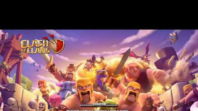 Clash of clans first time game play and wizards in town hall 1&2