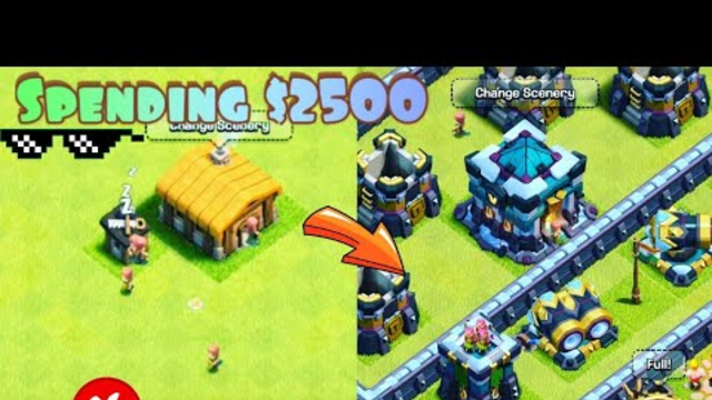 CLASH OF CLANS TOWN HALL 1 TO 13 MAX   GOD MEIKO YT