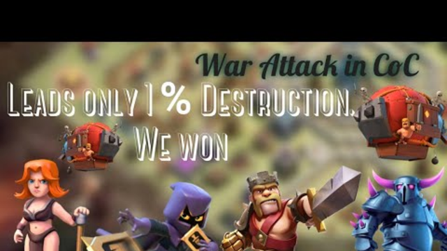 Awesome War - Win with 1% Destruction   Clash Of Clan Builder Base   COC
