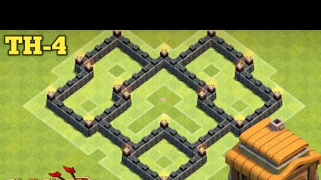 NEW BEST Town Hall 4 (TH4) Base with REPLAY 2020 - Clash of Clans