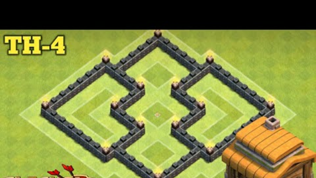 NEW BEST Town Hall 4 (TH4) #2 Base with REPLAY 2020 - Clash of Clans