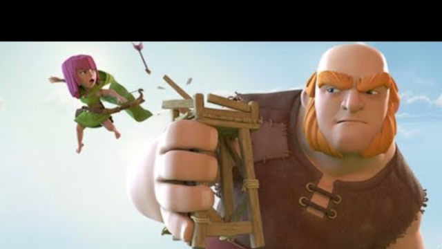 Clash of Clans - Practice Town Hall 4 Giant Smash