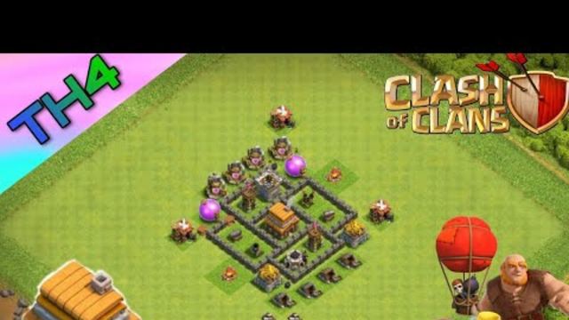 NEW BASE TOWN HALL 4 - Clash of Clans