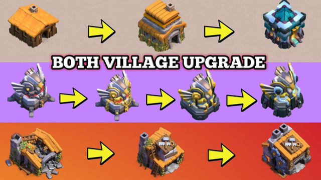 Upgrading Both Village in 9 Minutes | Clash of Clans Both Village Upgrade