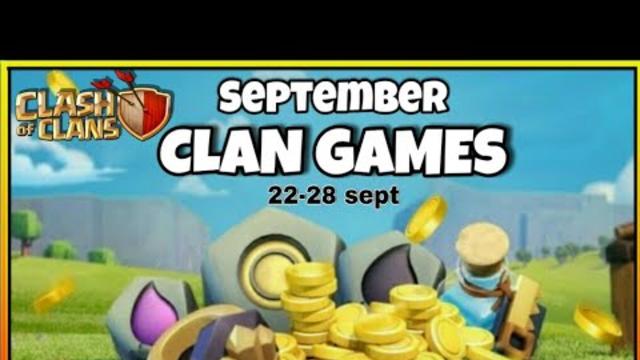 September 2020 CLAN GAMES rewards information || clash of clans CG rewards || COC GAMING