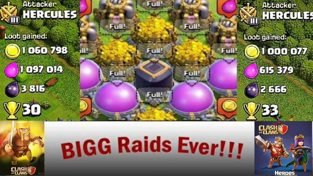 Highest Loot In Clash Of Clans Game | Best Raid In Clash Of Clans |COC Best Loot Attack.
