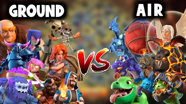 Ground vs Air !! Epic Challenge | Clash of Clans