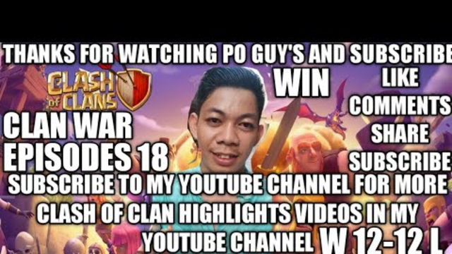 EPISODES 18 COC VLOG 2020 FULL GAME HIGHLIGHTS VIDEOS ON CLASH OF CLAN PHILIPPINES TIE 12-12  PANALO