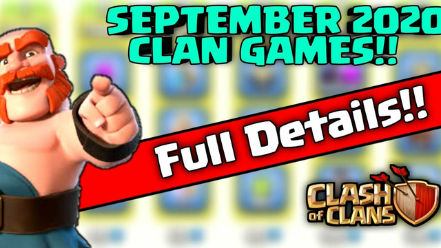 SEPTEMBER {2020} Upcoming Clan Games Rewards full Information (CLASH OF CLANS-COC)