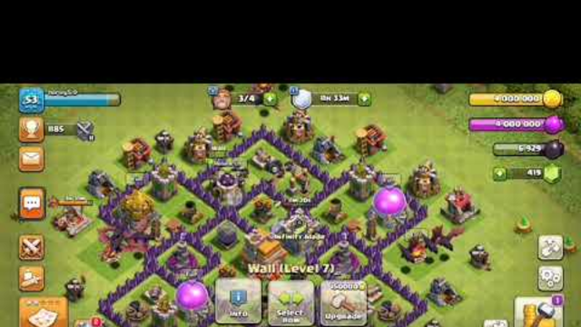 King finally done clash of clans th7 farm to max ep8