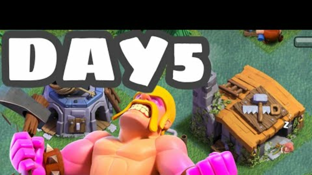 Builder Base Unlocked | 100 Days challenge TH1-TH9(max) | Clash of clans | No purchase | Day 5