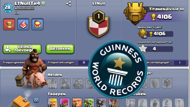 *WORLD RECORD* FIRST TOWNHALL 4 TITAN!   Clash of Clans