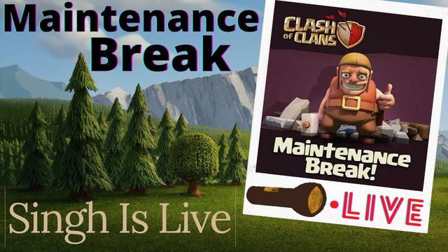 Clash Of Clans Live I Maintanance Break I Base Visit | Live Base Visit | Road to 1k I Singh Is Live