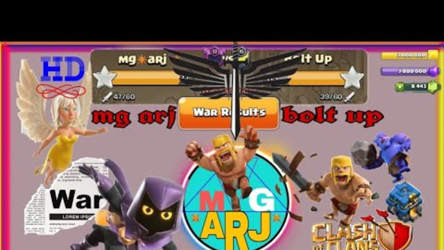 War clash of clans 30vs30 victory (mg arj) attacking video