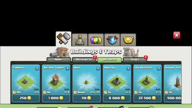 Town Hall 1 TO 13 COC (CLASH OF CLANS)