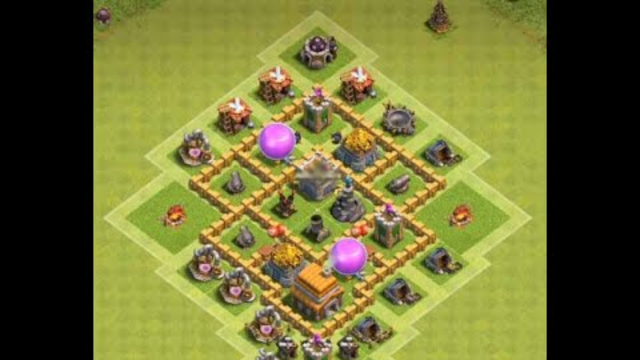 How to get 3 stars with baloons and lightning spells against town hall 5. Clash of Clans.