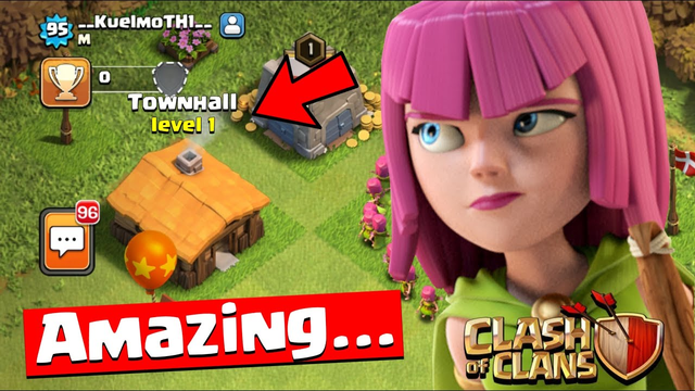 TOWNHALL 1 INCREDIBLE PLAYER................... Clash of Clans