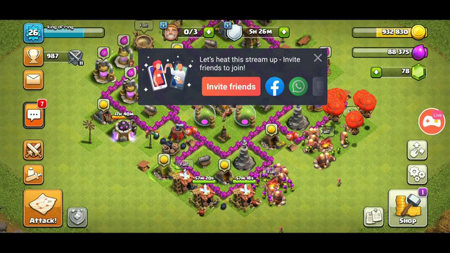 CLASH OF CLANS!!! NEW UPGRADE NEW LEVEL ....