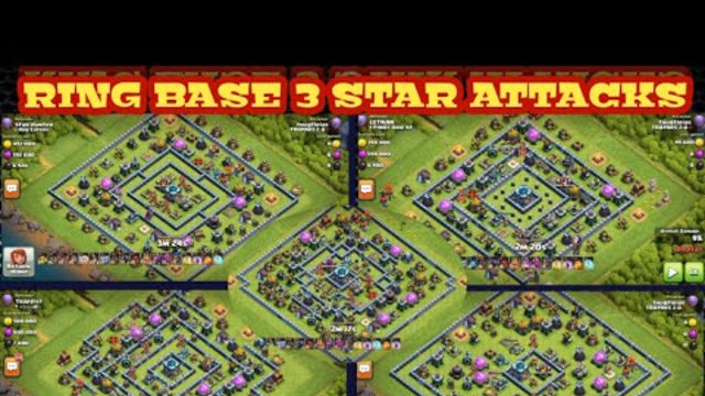 WRECKED Ring Base Using Hog/Miner Hybrid | TH13 3 Star Attacks [ Clash of Clans ]