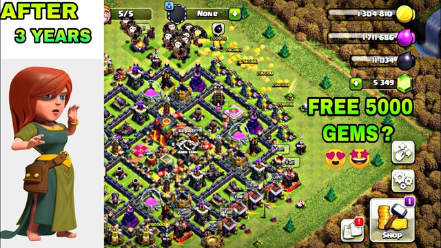 Opening Clash of Clans Account After 3 YEARS || 5000 gems || OMG