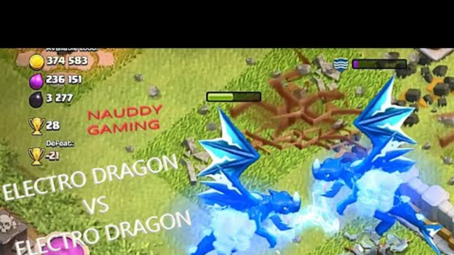 ELECRTO DRAGON VS ELECTRO DRAGON(CC):CLASH OF CLANS