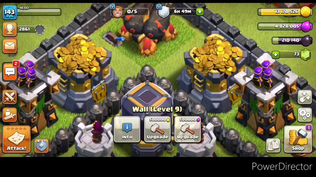 Clash of clans me my clans and my account and attack'