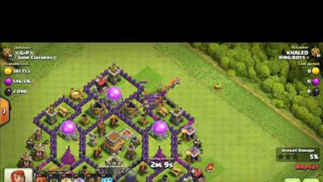 Valkyrie attack for 3 star(Clash of clans)