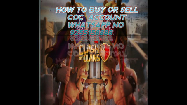 How to buy or sell clash of clans account in India