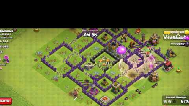 DESTROYED 75% OF ENEMIES BASE ONLY WITH THE HELP OF VALKYRIE | CLASH OF CLANS | NEEV JAIN