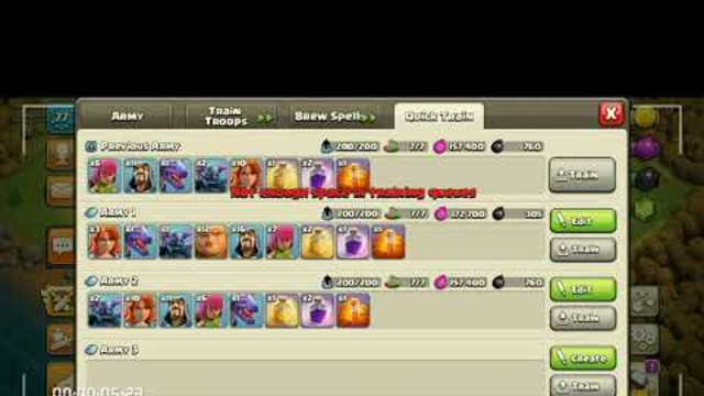 TH8 best attack army in COC