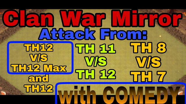 Clash Of Clans | Multiple TH WAR attack | TH 8,11,12.