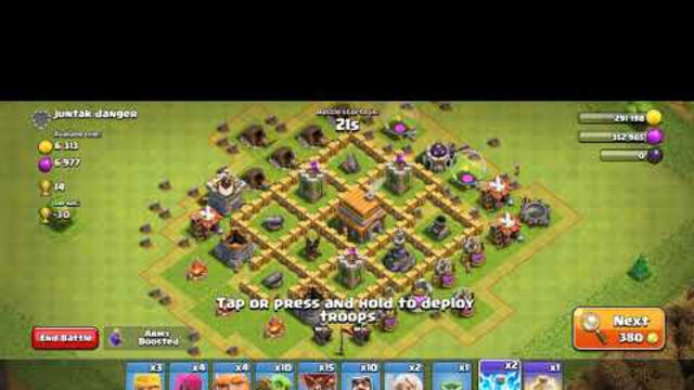 Clash of Clans Attak Townhall 6 bass (coc) lover september 2020