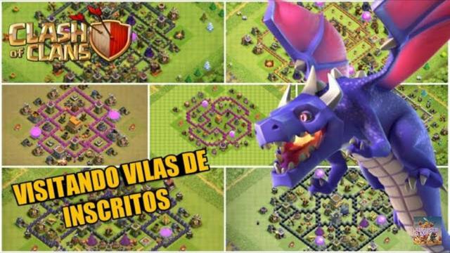 VISITANDO VILAS DE INSCRITOS AO VIVO! CLASH OF CLANS